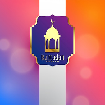 Ramadan kareem bellissimo design di lusso di saluto