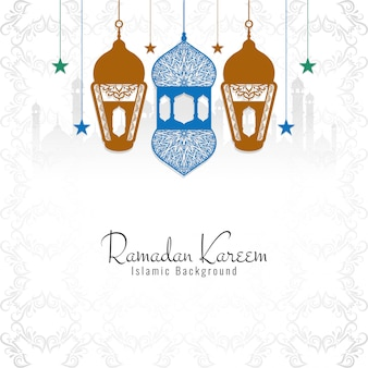 Ramadan kareem decorativo sfondo religioso