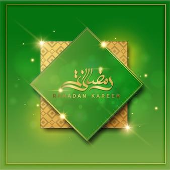 Ramadan kareem design creativo di colore verde