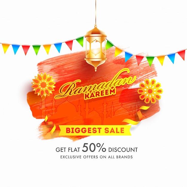 Ramadan kareem è il più grande modello di banner per la vendita