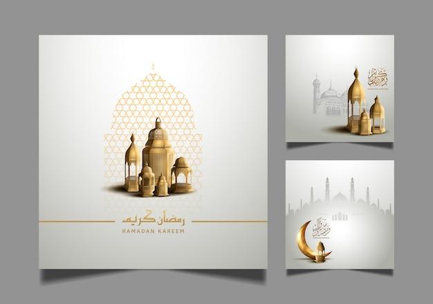 Ramadan kareem ha disegnato i disegni per la celebrazione del santo ramadan