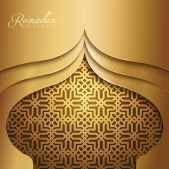 Ramadan kareem islamic mosque dome silhouette