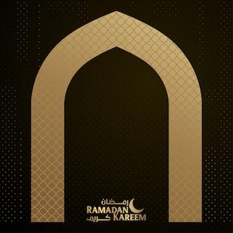 Ramadan kareem islamico banner sullo sfondo