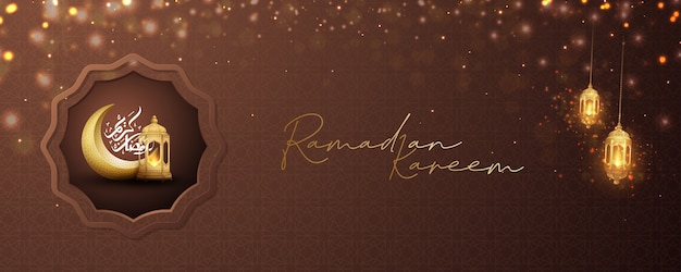 Ramadan kareem per poster o banner