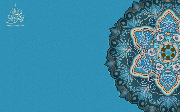 Ramadan kareem saluto sfondo ornamento