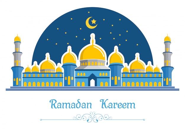 Ramadan kareem sfondo con moschea