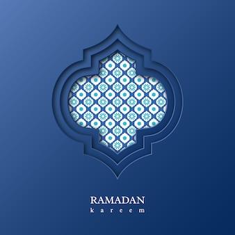 Ramadan kareem sfondo con motivo decorativo