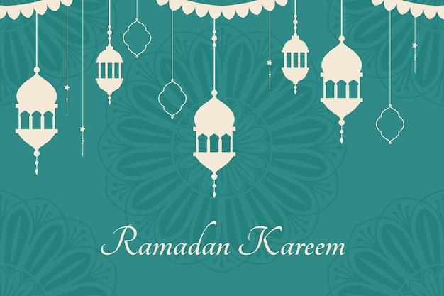 Ramadan mubarak design di sfondo