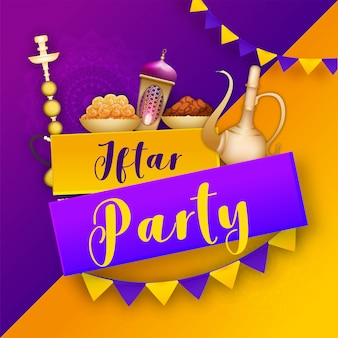 Ramadan mubarak, iftar party concept.