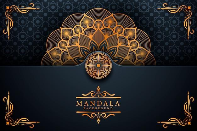 Ramadan style lusso elegante sfondo mandala