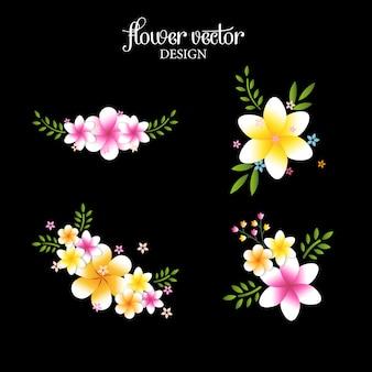 Ramo di fiori colorati isolato