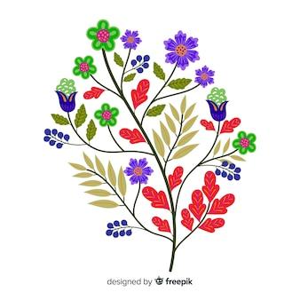 Ramo floreale design piatto