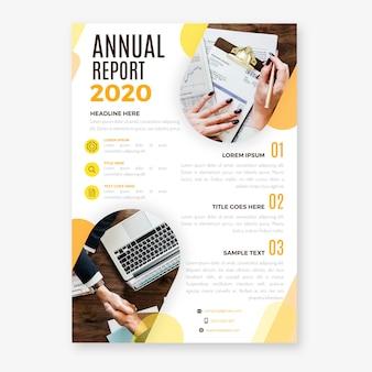 Rapporto annuale astratto con il modello dell'immagine