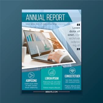 Rapporto annuale astratto con modello di immagine