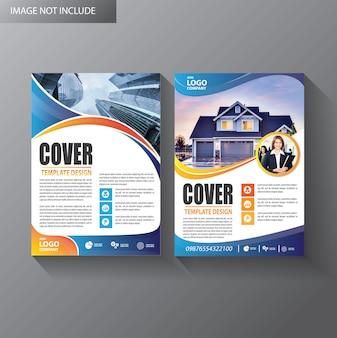 Rapporto annuale della copertina del layout del modello di brochure