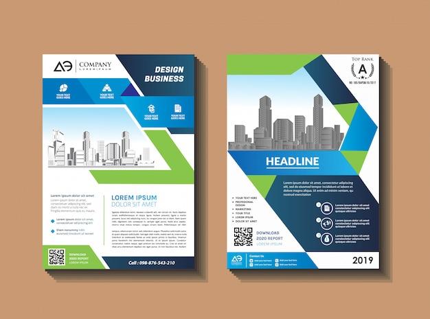 Rapporto annuale della rivista di progettazione dell'aletta di filatoio del modello di progettazione dell'opuscolo di affari
