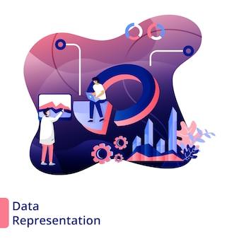 Rappresentazione dei dati illustrazione stile moderno