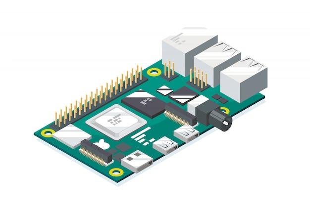 Raspberry pi codifica microcomputer