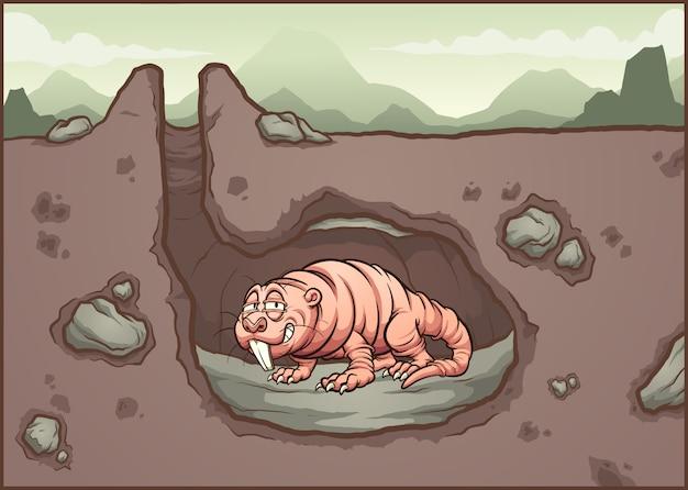 Ratto talpa nudo