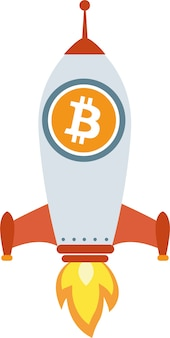 Razzo a moneta elettronica bitcoin, etherum litecoin
