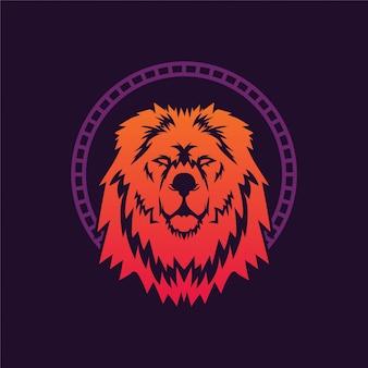 Re leone illustrazione logo