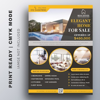 Real estate business design template flyer