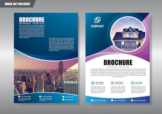 Real estate flyer con forma geometrica