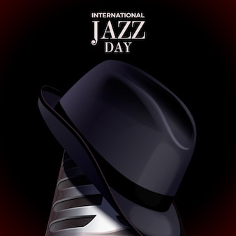 Realistica giornata jazz internazionale e cappello da gentiluomo