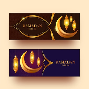 Realistici banner ramadan
