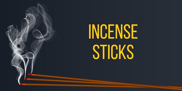 Realistico aroma di incenso con fumo.