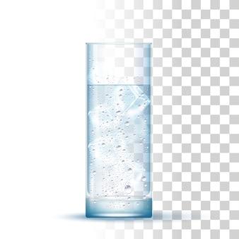 Realistico bicchiere d'acqua