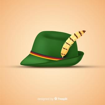 Realistico cappello tradizionale più oktoberfest