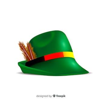 Realistico cappello verde più oktoberfest