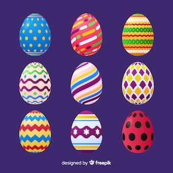 Realistico collezione di uova di pasqua