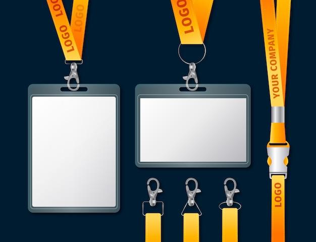 Realistico concetto di cancelleria carta d'identità
