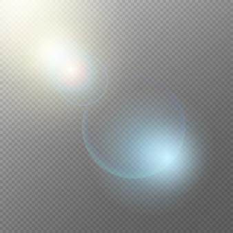 Realistico concetto di elementi di luce