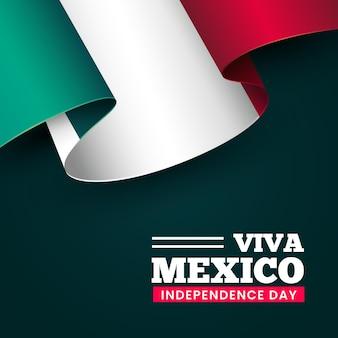 Realistico concetto di festa dell'indipendenza mexic