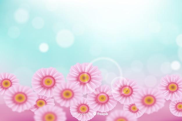 Realistico concetto di fiori per lo sfondo
