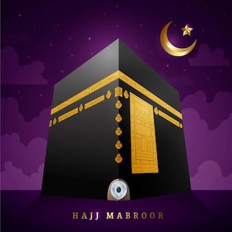 Realistico concetto di pellegrinaggio islamico