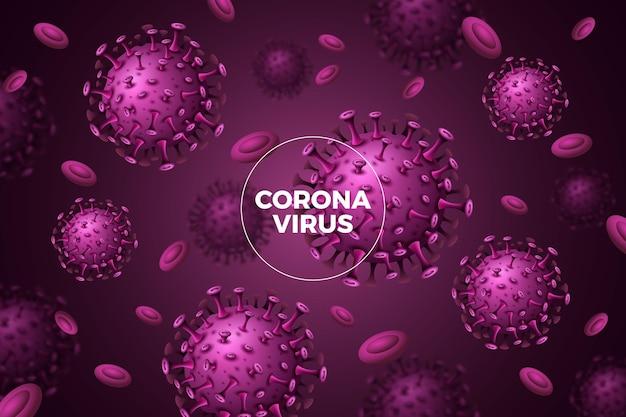 Realistico concetto di sfondo coronavirus