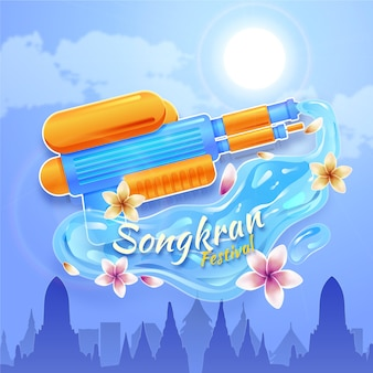 Realistico concetto di songkran