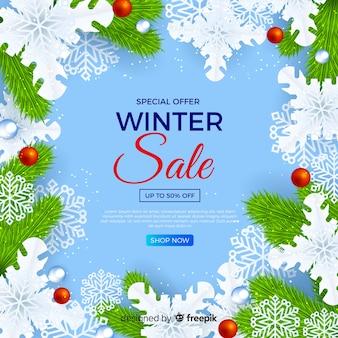 Realistico concetto di vendita invernale