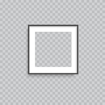 Realistico cornice quadrata trasparente