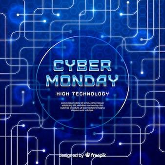 Realistico cyber lunedì sfondo