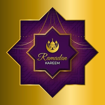 Realistico design ramadan