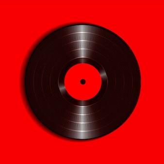 Realistico disco in vinile con cover mockup.
