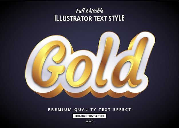 Realistico effetto oro elegante stile testo