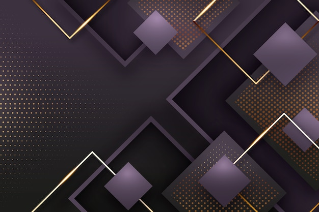 Realistico elegante forme geometriche sullo sfondo