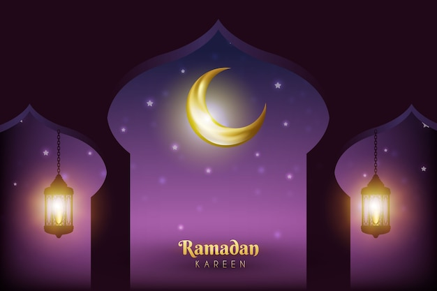 Realistico evento ramadan