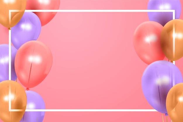 Realistico felice compleanno sfondo